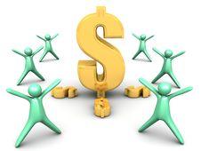 Free Golden Dollar Symbol Stock Photos - 25568623