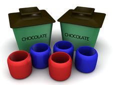 Free Chocolate Container Stock Photography - 25568652