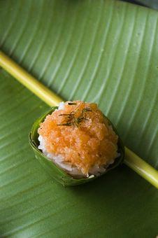 Thai Dessert On Green Stock Image