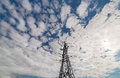 Free Steel Pylon On Blue Skyvwith Clouds Stock Photo - 25574010