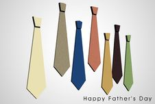 Free Happy Father S Day Card Royalty Free Stock Photography - 25570437