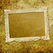 Grunge Paper Design For Information Stock Photography