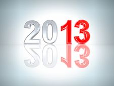 Free New Year 2013 Background. With Clipping Path Royalty Free Stock Photography - 25573987