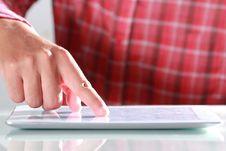 Free Man Using Digital Tablet Royalty Free Stock Photo - 25576815