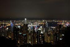 Free Hong Kong Night View Stock Photo - 25577310