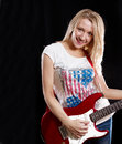 Free Woman Playing The Guitar Stock Photography - 25585002