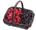 Free Currants And Raspberries In A Basket Stock Photo - 25589340