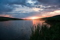 Free Sunset On The Lake Royalty Free Stock Photos - 25589958