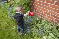 Free Little Gardener Royalty Free Stock Photos - 25580388
