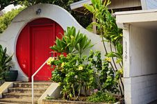 Free Red Front Door Royalty Free Stock Image - 25581696
