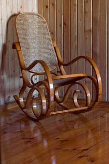 Free Wooden Rocking Chair Stock Photos - 25584863