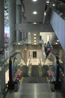 Free Escalator Royalty Free Stock Photography - 25586287