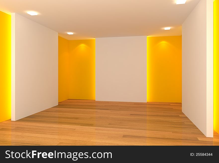 Yellow Empty Room Free Stock Images Photos 25584344 Stockfreeimages Com