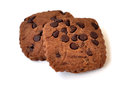 Free Two Chocolate Cookies Royalty Free Stock Photos - 25594608