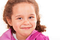 Free Happy Smiling Curly Haired Brunette Preschooler Stock Images - 25595694