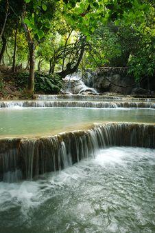 Free Kuang Si Waterfall Stock Photo - 25591200