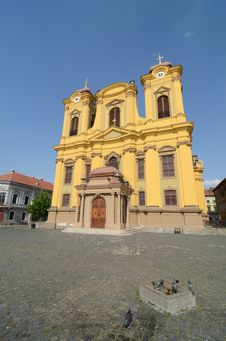 Free Yellow Cathedral Stock Photos - 25592163