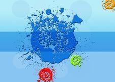 Free Color Splash Background. Stock Photo - 25592950