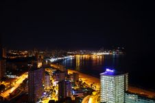 Free Buildings On The Beach At Night Stock Photos - 25593483