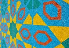 Islamic Patterns In Perspective Royalty Free Stock Image