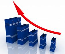 Free Sales Growth Chart Stock Photos - 25595683