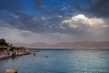 Southern Beach Of Eilat, Israel Royalty Free Stock Photos