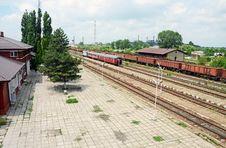 Train Station Perron Stock Photography