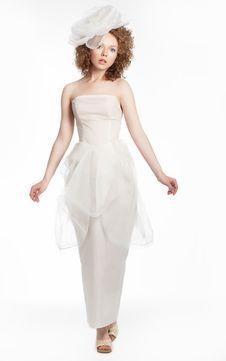 Free Gorgeous Young Woman In Fashion Wedding Dress Stock Photo - 25596910