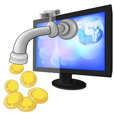 Free Concept Of Earning Money With Internet Royalty Free Stock Photography - 25598167