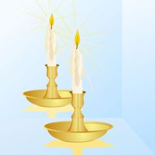 Free A Candle And A Mirror Royalty Free Stock Photo - 25599675