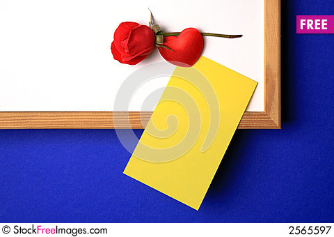 Free White-board With Yellow Note Royalty Free Stock Photography - 2565597