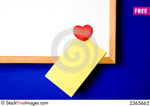 Free White-board With Yellow Note Royalty Free Stock Photo - 2565665