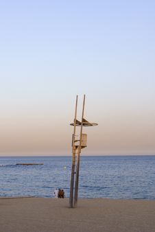 Free Beach And Baywatch Tower Stock Photos - 2560233