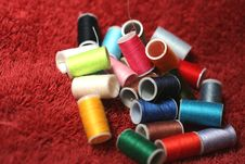 Spools Of Colored Thread 6 Royalty Free Stock Photo