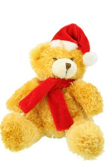 Free Christmas Yellow Bear Royalty Free Stock Photos - 2561398