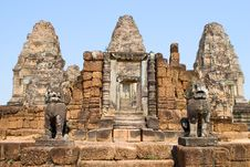 East Mebon Steps Royalty Free Stock Photos