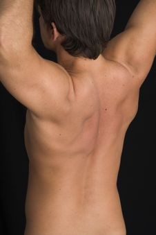 Free Close Up Of A Young Man Back Stock Photography - 2562792