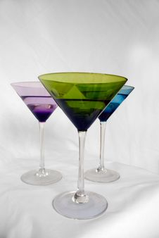 Free Multicolored Cocktail Glasses Royalty Free Stock Photos - 2563548
