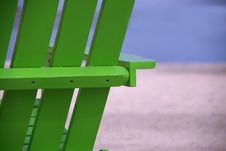Free Green Beach Chair Close Up Royalty Free Stock Photo - 2563565