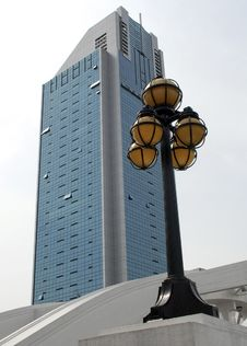Skyscraper And Lamp Stock Images