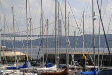Free Marina And Bridge Royalty Free Stock Photos - 2563658