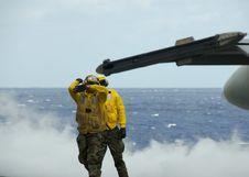 Free Sailors On Flight Deck Stock Photo - 2563720