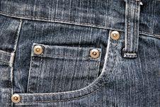 Free Jeans Pocket Royalty Free Stock Photo - 2564145