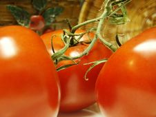 Free Tomatoes And Two Baskets Stock Image - 2564641