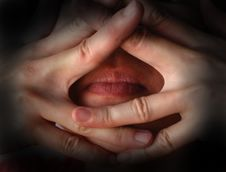 Free Body Part - Hand And Mouth Royalty Free Stock Photos - 2564888