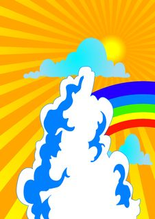 Free Sun And Rainbow2 Royalty Free Stock Images - 2565839