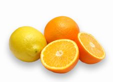 Free Orange And Lemon Composition Royalty Free Stock Photos - 2566218