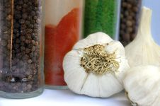 Free Garlic And Spices Stock Images - 2566704
