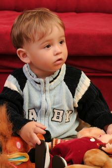 Free Little Blond Baby Boy Royalty Free Stock Image - 2568266