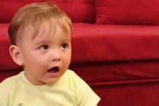 Little Blond Baby Boy Stock Photography